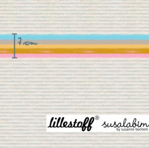 Lillestoff -  Paneel Rainbow moop jersey per 45cm €9 p/s GOTS