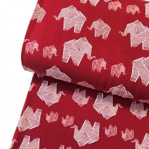 Elephant cherry red €21,80 p/m GOTS jersey