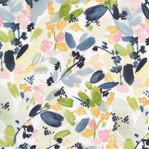 Cloud 9 - Floral in Indigo - Cotton Sateen €22 p/m (biokatoen)