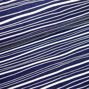 Tidoeblomma - Remsor blue (GOTS jersey) €19,90 p/m