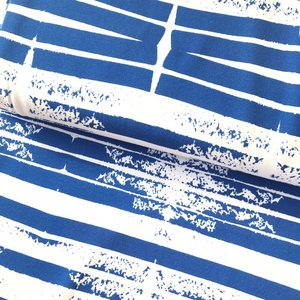 COUPON 40CM Lillestoff -  Stripes blue  jersey €20 p/m GOTS