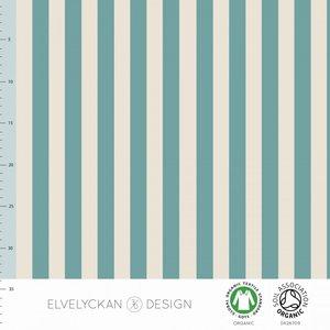 COUPON 40cm Elvelyckan  - Aqua Blue stripes €23 p/m jersey (GOTS)