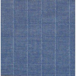 Amandine Cha - Double Gauze - Geruit blauw - €23,90 p/m GOTS