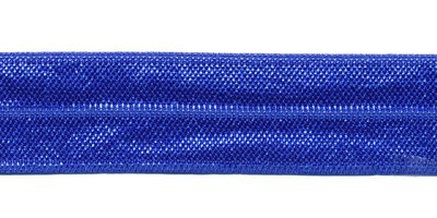 Kobalt blauw - Elastisch Biais