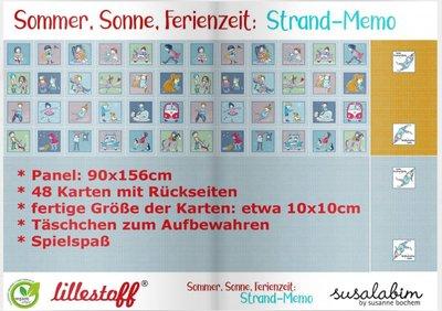 Lillestoff -  Memory Paneel 90cm €19,50 p/s summersweat GOTS
