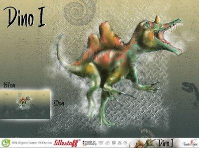 Lillestoff -  Paneel Dino 1 80cm jersey €17,50 p/s GOTS