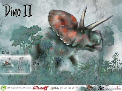 Lillestoff -  Paneel Dino 2 80cm jersey €20 p/s GOTS