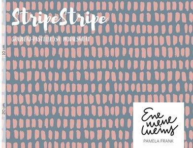 Lillestoff -  Stripe rosa modal sweat €21 p/m GOTS