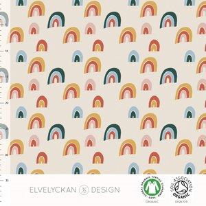 Elvelyckan  - Rainbow creme €24 p/m jersey (GOTS)