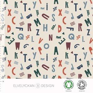Elvelyckan  - Alfabet €23 p/m jersey (GOTS)