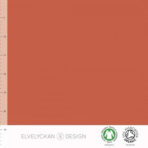 Elvelyckan  - Ginger solid €21 p/m French Terry (GOTS)
