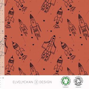 COUPON 50cm Elvelyckan  - Ginger Rockets €25,50 p/m French Terry (GOTS)